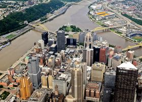 Aerial view of downtown pittsburgh article