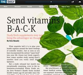 Supplements screengrab article