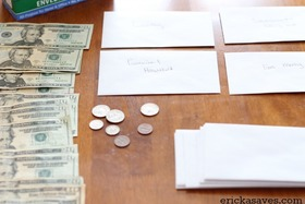 Cash envelope system post article