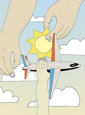 Airplane dad article
