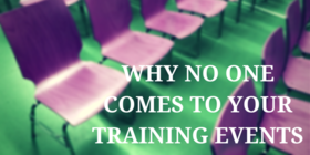 Empty training events article