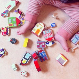 Foap playing with toys article