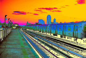 Colorful subway to lic queens article