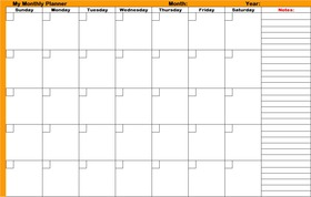 Monthly planners printable planners article