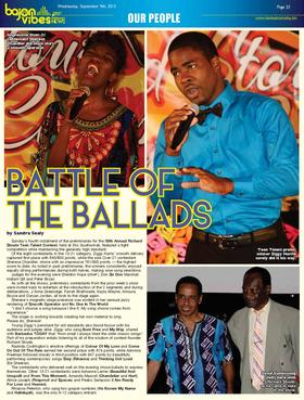 Battle of the ballads   barbados today page 23 article