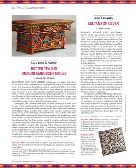 Craft of india  national geographic traveller india oct 2014 page 002   copy article