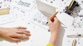 Punkpost handwritten card app article