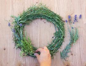 Adventures in making herbal wreath article