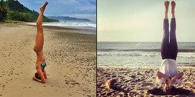 Yoga mamas gisele buendchen hilaria baldwin show off flexibility at the beach main article