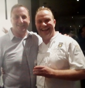 Celebrity chef andrew pern of uk   right   with cobblers cove gm will oakley article