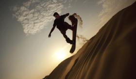 Sandboarding mast article