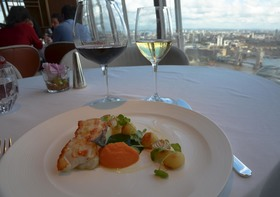 Black cod entree at ting shangrila shard article