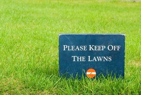Keep off the grass article