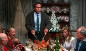 Christmas vacation chevy chase carving turkey dinner article