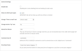 Swifty bar settings article