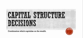 Capital structure decision project pic article