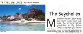 Seychelles by fredric hamber article