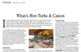 Turks and caicos article