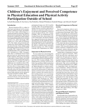 Brazendale et al 2015 childrens enjoyment and perceived competence in physical education and physical activity participation outside of school 1 638 article