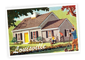 Louisville postcard article