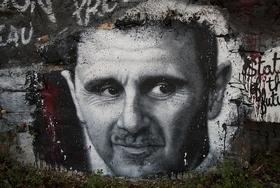 Assad graffiti article