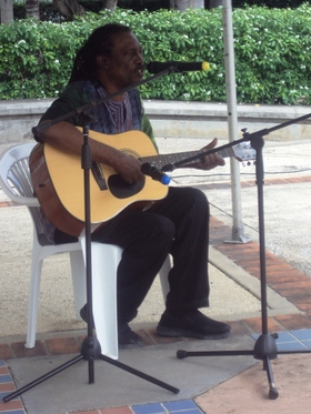 Gabby was superb as he belted out bridgetown market   the perfect song for the cobhaf launch article