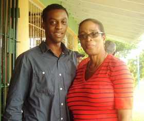 Community minded   akil daley  sales supervisor for nicholls bakery working closely with sandra husbands  project brainchild and blp rep for st. james south article