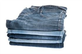 Stack of jeans article