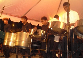 Daryl jordan secondary school steel band excite with eclectic selection article