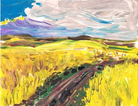 Yellow landscape by tammyruggles d6gn2wv article