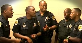 Jd godvine 5 police officers sing thank you jesus fb article