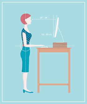 Standing desk illo article article