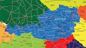 Live austria map vector article