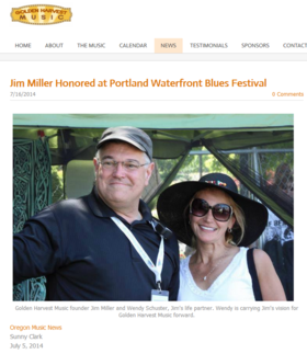 Jim miller golden harvest article