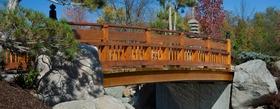 Arched bridge japanese garden article