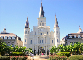 St louis cathedral and garden article