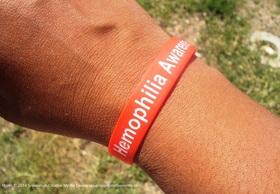 Haemophilia awareness wristband article