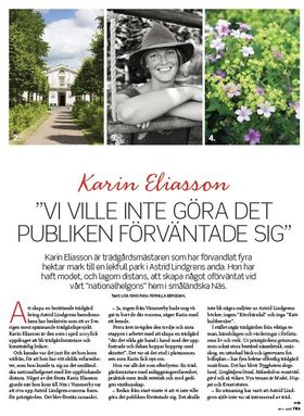 Karin eliasson article
