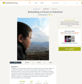 Online writing sample  rebuilding a future in palestine! crowdsource funding project page  rebuilding alliance article
