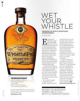 Wet your whistle   whistlepig rye   snow article