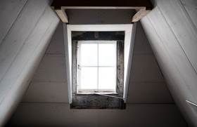 Wall house window loft article