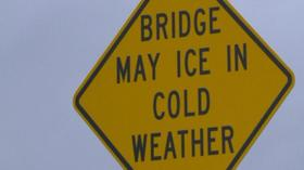 Bridge may ice in cold weather article