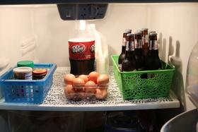 Baskets in fridge article