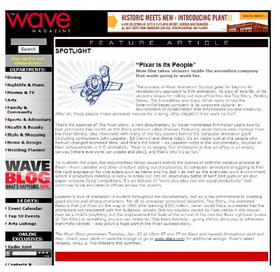 The wave vol 8 issue 21 pixar article