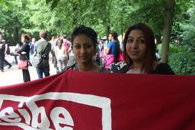 Victoria zenkulovic veselovic and her mother jesma   berlin protest 3.6.16 article