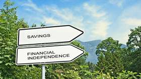 Financial independence savings signs article