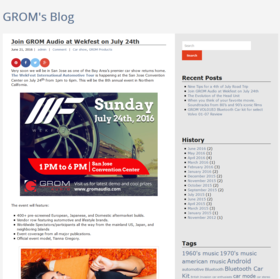 Online writing sample join grom audio at wekfest on july 24th blog post   grom audioa article