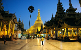 Pagodas night yangon myanmar article