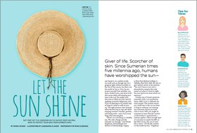 Let the sun shine  article