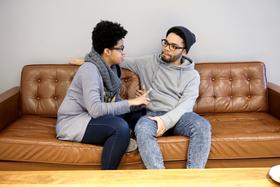 Brandy couple poc talking serious article